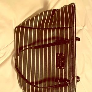 Kate spade navy/white stripe purse great condition